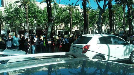 محتجون يطالبون بالقصاص لأيت الجيد من قاتله حامي الدين (صور)