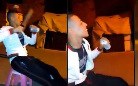 فيديو خطير .. شاب يهدد بقطع الرؤوس والأطراف