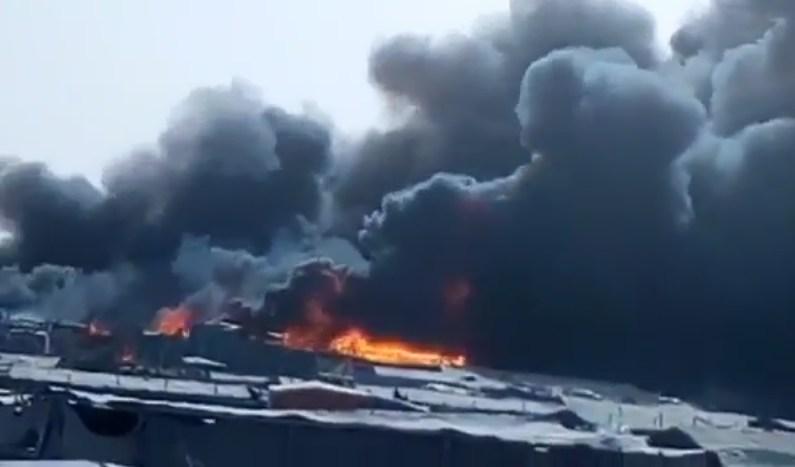 حريق أخر في القنيطرة ... النيران تندلع في خزان غاز البوتان ومصنع البولستير