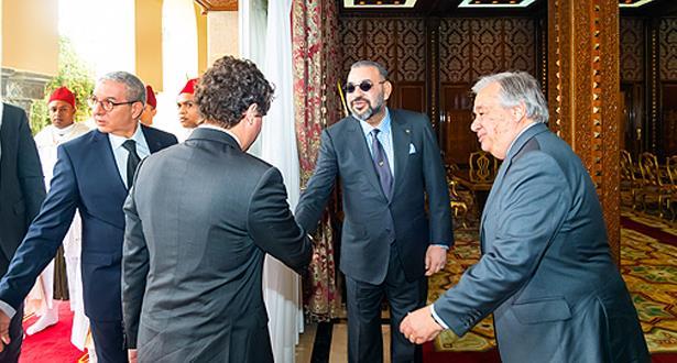 الملك محمد السادس يستقبل الامين العام للامم المتحدة