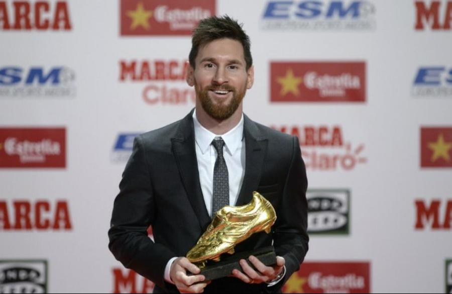 ميسي يحسم جائزة الحذاء الذهبي للمرة الثالثة تواليا والسادسة في تاريخه