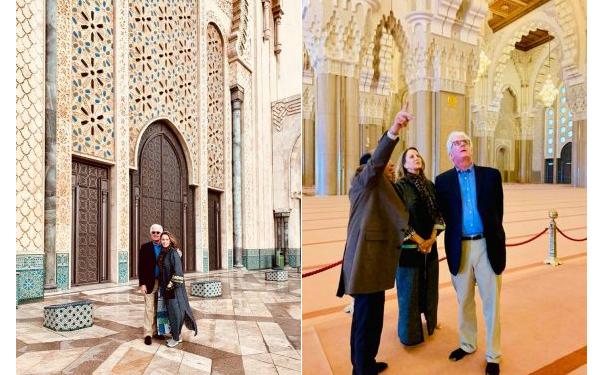 السفير الأمريكي الجديد فيشر يزور مسجد الحسن الثاني بالدار البيضاء